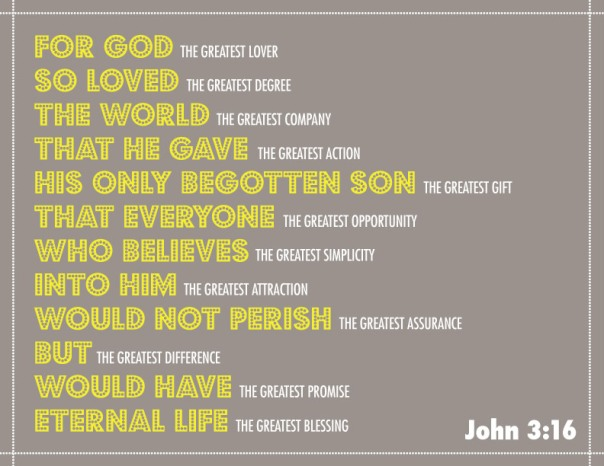 John 3:16- the greatest lover