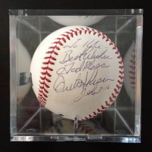 orel hershiser autograph ball