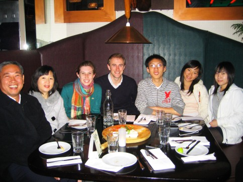 Dinner with Christians in New Zealand