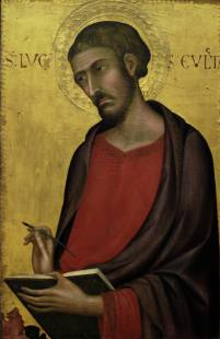 Saint Luke by Simone Martini