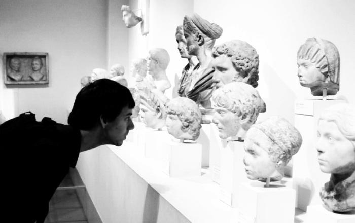 heads of greek statues
