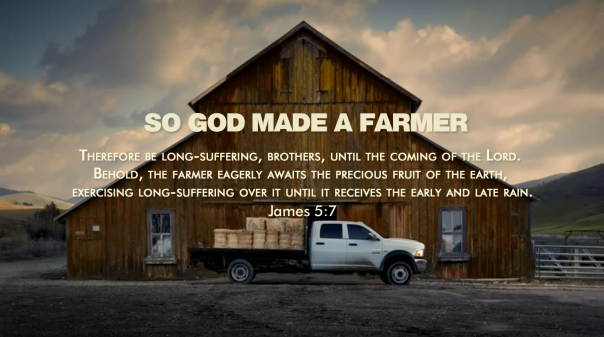 God made a farmer Superbowl ad