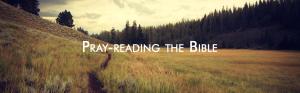 pray-reading the Bible, lectio divina
